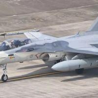Caça na base aérea taiwanesa de Tainan, no Taiwan