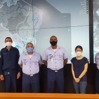Equipes do CIMAER, SDOP e Atech na virada do sistema legado para o novo OPMET. CISCEA entrega o novo OPMET para operação de troca de informações meteorológicas