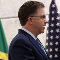 O embaixador dos EUA no Brasil, Todd Chapman, em evento na FIESPesp em outubro 2020