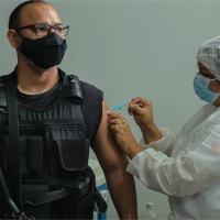 Integrante da segurança pública paraense é imunizado com a vacina contra a COVID-19