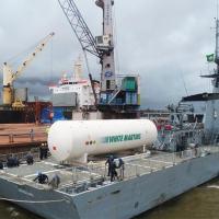 Marinha do Brasil presta apoio no transporte de tanque de oxigênio que atenderá hospitais no Pará e no Amapá
