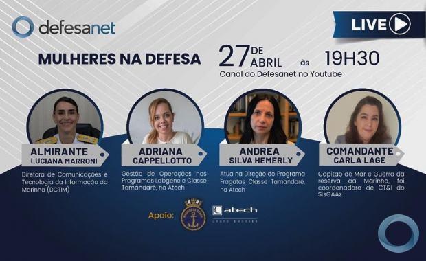 LIVE - Mulheres na Defesa Especial dia 27 Abril 2021