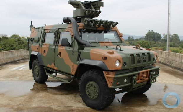 Official deliverto the Brazilian Army ofthe first unit of LMV-BR in the framework the VBMT-LR 4x4 program (Viatura Blindada Multitarefa, Leve de Rodas).