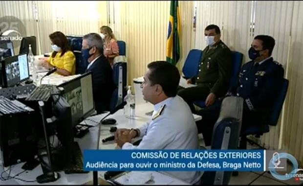 Audiência da Comissão de Relações Exteriores e Defesa Nacional do Senado Nacional 29 Abril 2021