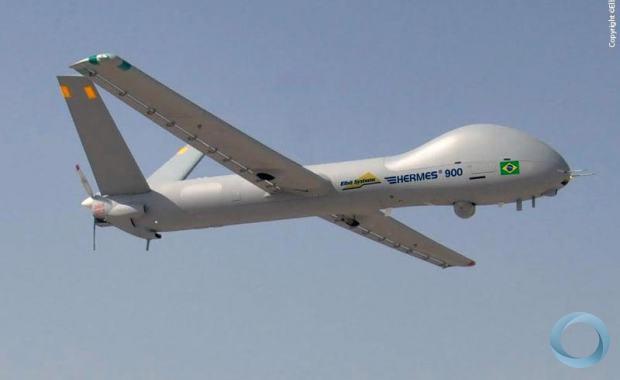 TOA - Compra de drones para patrulhar Amazônia segue parada no governo. Na foto Hermes 900 adquirido para a Copa do Mundo
