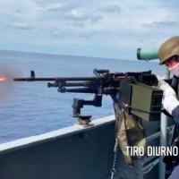 "Exercício de tiro realizado a bordo do NPaOc ""Apa"""
