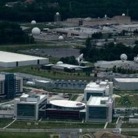 Vista aérea do Cibercomando de Estados Unidos, também conhecido pelas siglas USCC no prédio da NSA em Fort Meade, Maryland