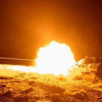 1º RCC realizou o seu primeiro exercício de tiro real noturno com a VBC CC Leopard1A4BR