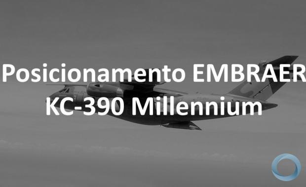 EMBRAER emitenota após anúncio da FAb de repactuar contrato da aeronave de transporte Multimissão KC-390