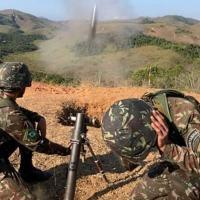 Brigada de Montanha realiza um exercício de tiro de morteiros