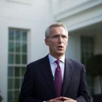O secretário-geral da Otan, Jens Stoltenberg, em Washington, em 7 de junho