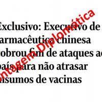 Reunião com a embaixada brasileira em Pequim, executivo da SinoVac cobrou fim de ataques à China para não atrasar insumos