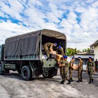 Exército arrecada cerca de duas toneladas de alimentos para famílias carentes em Taubaté (SP)