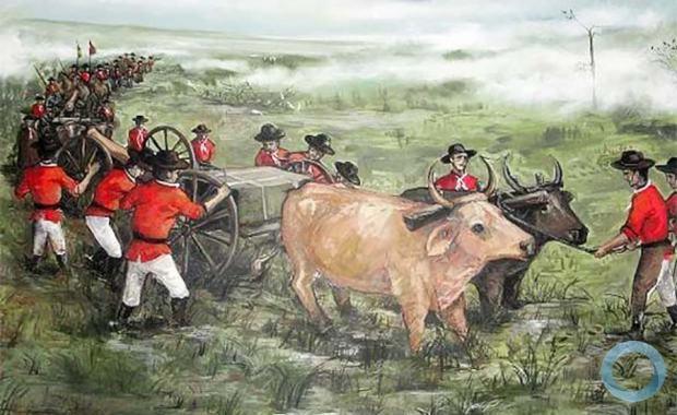 Peça de Artilharia do Exército Imperial  na Guerra da Tríplice Aliança (Paraguai)
