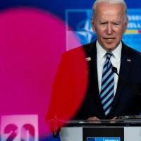 O presidente dos Estados Unidos, Joe Biden, em uma entrevita coletiva em Bruxelas, Bélgica, em 14 de junho de 2021