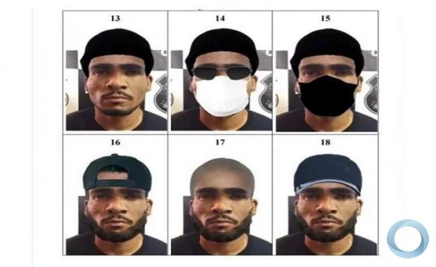 Imagens distribuídas pela Polícia Civil do Distrito Federal (PCDF) sobre a possível caracterização do Serial Killer.