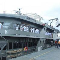 Navio atracou na Estação Naval do Rio Negro após quatro meses de comissão