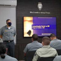 """O Diretor do CCSM ministrou a disciplina  """"A Comunicação Social na Marinha do Brasil"""""""