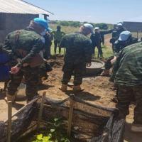 Militares brasileiros reformam escola no Sudão do Sul