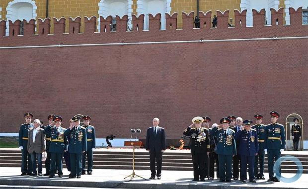 Cerimônia realizada na muralha do Kremlin na manhã, de 22 Junho 2021, pelos 80 anos do início da Grande Guerra Patriótica