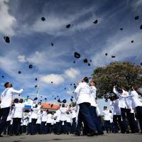 A cerimônia militar de formatura da 252ª Turma do Curso de Formação de Sargentos (CFS) da Escola de Especialistas de Aeronáutica (EEAR) da Força Aérea Brasileira (FAB) – Turma Parabellum