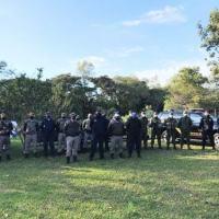 Participação da Polícia Federal, Polícia Ambiental e Polícia Militar na Operação em São Borja (RS)