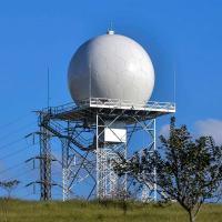 O radar meteorológico RMT 0200 banda S de dupla polarização em estado sólido, desenvolvido pela IACIT, começa a operar em julho no CEMADEN, em São José dos Campos Foto - Lucas Lacaz -  Rossi Comunicação