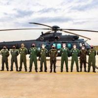 O helicóptero H225M Jaguar passou pela Inspeção Alfa, na sede do Centro Integrado de Manutenção