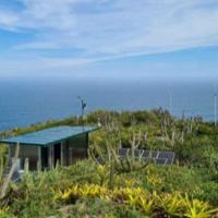 Vista aérea do Radar Oceanográfico nas proximidades do Farol de Cabo Frio
