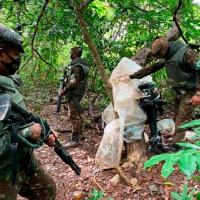 1ª Bda Inf Sl - Força Tarefa Lobo D'Almada emprega sua tropa em ações contra o garimpo ilegal na região de Alto Alegre-RR.