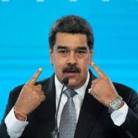 Nicolás Maduro durante entrevista coletiva em Caracas, em 17 de fevereiro de 2021
