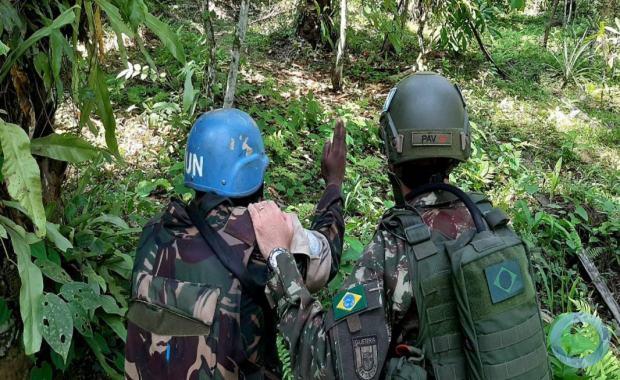 Esse treinamento visou incrementar o adestramento das tropas da Brigada de Intervenção (FIB – Force Intervention Brigade) da MONUSCO