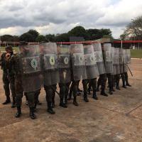 Estágio de Operações em Ambiente Urbano, realizado por militares da 4ª Brigada de Cavalaria Mecanizada - Crédito: ST Irajara