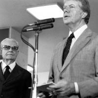 Jimmy Carter fez visita à Brasília, em 29MAR1978, onde ficou explícito as divergências entre a sua administração e o governo brasileiro, liderado pelo Presidente Ernesto Geisel.