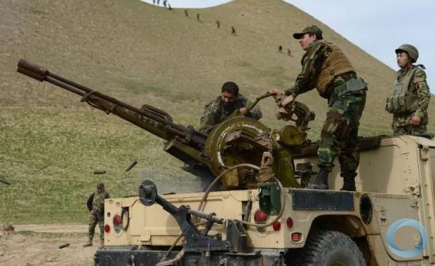 Soldados do exército afegão durante uma operação militar na província de Badghis, em março de 2017