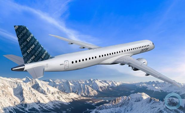 EMBRAER E195-E2 -  30 ordered and 50 Options for the Canadian Porter Airlines