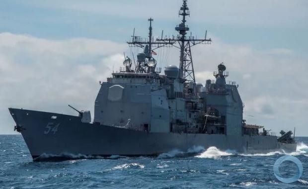Navio de guerra dos EUA no Mar do Sul da China em foto de arquivo