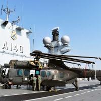 HM-4 Jaguar, do Exército, em adestramento no Capitânia da Esquadra