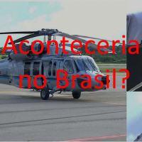 A foto mostra os impactos de projetis que atingiram o helicóptero onde estava o presidente da Colômbia, em 25 junho 2021.
