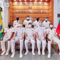 CISMAR realiza intercâmbio sobre o Controle do Tráfego Marítimo com militares de Camarões