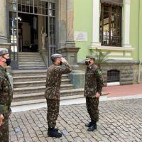 s atividades da jornada foram acompanhadas pelo General Tratz, Chefe do Centro de Doutrina do Exército.