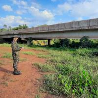 Foram reconhecidas 16 pontes e 115 bueiros, em 140 km da rodovia.