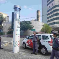 Tecnologia dos totens de monitoramento da Helper uma solução para o sistema de segurança do município.