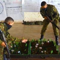 Exercício no terreno de patrulha para os alunos do corrente ano.