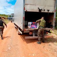1ª Brigada de Infantaria de Selva, apreendeu diversos materiais utilizados na prática de crimes ambientais e contrabando