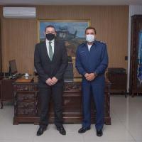 O Tenente-Brigadeiro Baptista Junior destacou a parceria entre os Órgãos na interceptação de 300 quilos de drogas