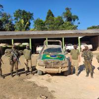 As ações aconteceram no contexto da Operação Samaúma, de fiscalização ambiental. - Crédito: Sd Gabriel Silva