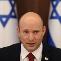Primeiro-ministro de Israel, Naftali Bennett, durante reunião de gabinete em Jerusalém