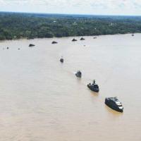 Bicentenário foi comemorado na Base Naval Clavero, com Parada Naval envolvendo meios operativos dos três países