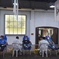 Foram coletadas 136 bolsas de sangue no Salão Histórico do Com1ºDN
